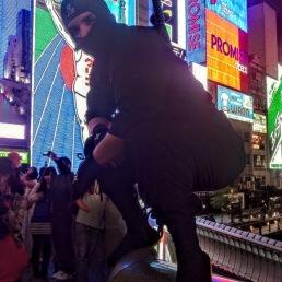 Ninja Part 2: Smashing Dontonbori by night. Osaka, Japan